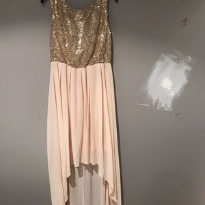 High to low evening dress
